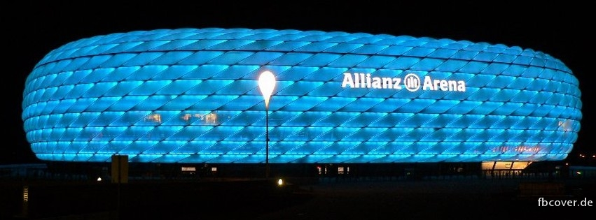 Allianz Arena in Munich - Allianz Arena football stadium in the north of Munich