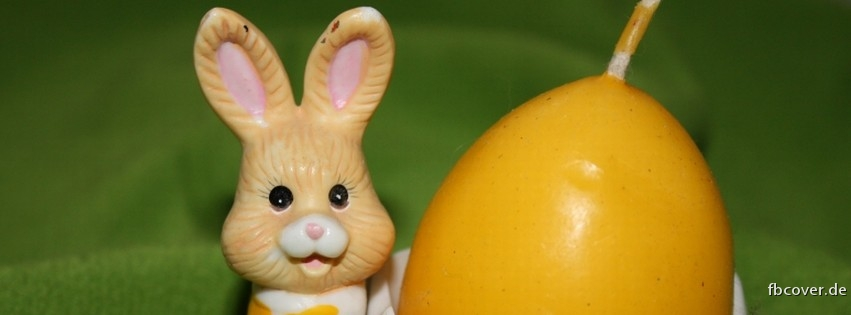 A bunny and Easter candle - A bunny and Easter candle