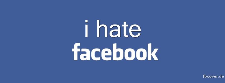 I hate Facebook - I hate Facebook frontispiece.