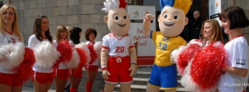 EM mascot with beautiful women - Euro 2012 mascot with beautiful women