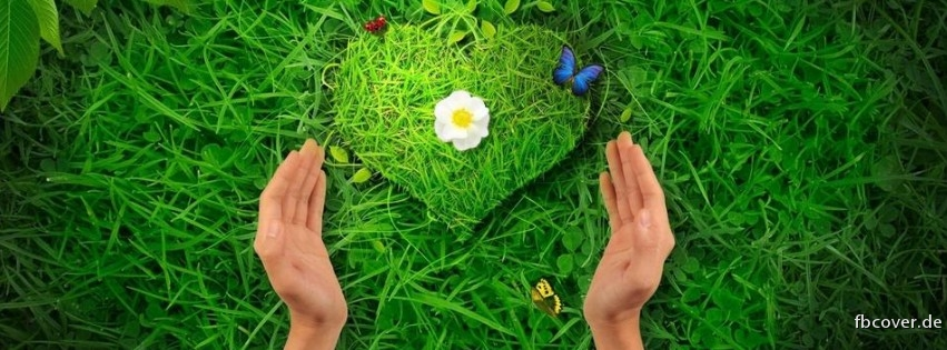 Green Heart - Green heart with a flower.